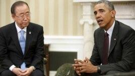 Takim Ban Ki-moon-Obama në Shtëpinë e Bardhë
