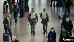 Международный аэропорт Брюсселя, Бельгия. 22 ноября 2015 г.