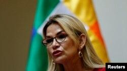 La presidenta interina del gobierno de Bolivia, Jeanine Áñez, en una imagen de archivo (Foto: Reuters/David Mercado)