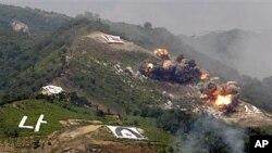 미군과 한국 군이 최근 실시한 연합 화련 훈련.