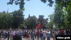 Protest Demokratskog fronta u Crnoj Gori