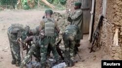 Des soldats FRDC au Kivu, dans l'Est de la République démocratique du Congo (RDC)