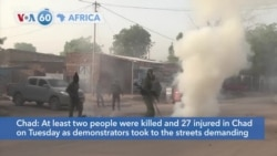 VOA60 Afrikaa - At least two people killed and 27 injured in Chad protests