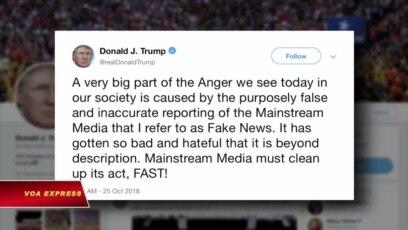 Trump: Truyền thông gây ảnh hưởng không khí chính trị Mỹ