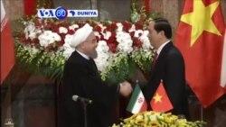 VOA60 DUNIYA: VIETNAM Shugaban Iran Hassan Rouhani, Ya Hadu Da Shugabanin Vietnam