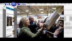 Bà Hillary Clinton đi vận động phiếu bầu tại bang Illinois (VOA60)