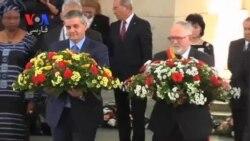 مراسم یاد بود قربانیان حمله شیمیایی جنگ جهانی اول