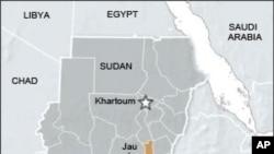 蘇丹和南蘇丹的地理位置圖
