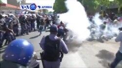 VOA60 AFIRKA: SOUTH OF SUDAN 'Yan Sanda Sun Harba Gurnati da Harsasan Roba a Tsakiyar Johannesburg Domin Tarwatsa Dalibai Da Ke Zanga-Zanga
