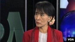 Pemimpin oposisi Burma, Aung San Suu Kyi melakukan kunjungan selama 17 hari di Amerika mulai hari Senin (17/9).