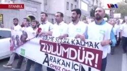 Arakan'daki Şiddet İstanbul'da Protesto Edildi