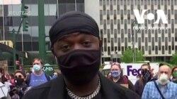 Люди на мирному протесті у Нью-Йорку пояснюють, за що вони протестують. Відео