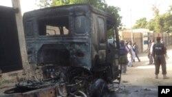 Motar da Boko Haram ta kona