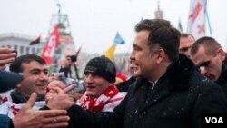 Михаил Саакашвили на Майдане