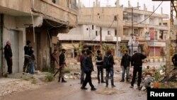 在敘利亞德拉省的反政府軍。