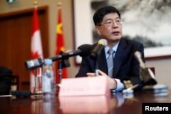 资料照:中国驻加拿大大使丛培武
