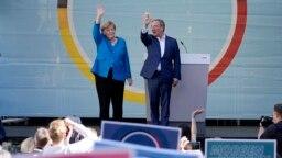 Angela Merkel və Armin Laşet