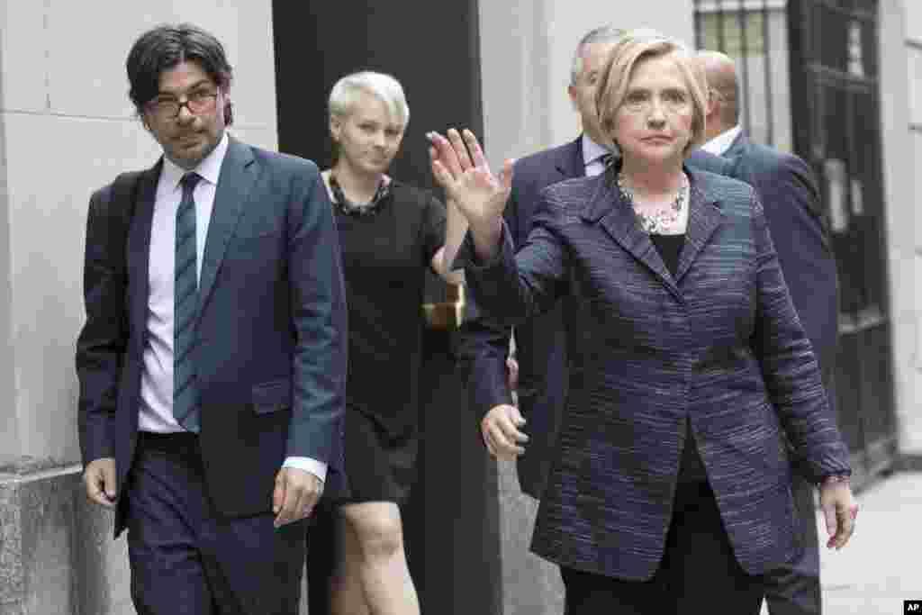 15 сентября 2017 Хиллари Клинтон присутствовала в Нью-Йорке на похоронах Эдит Виндзор - женщины, чья победа в Верховном суде сделала возможной легализацию однополых браков в США.
