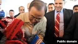 Ban Ki Moon bugün Erbil'deydi