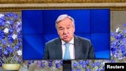 ကုလသမဂၢအတြင္းေရးမႈးခ်ဳပ္ Antonio Guterres က Nobel ဆုေပးပြဲအခမ္းအနားအတြင္း မိန္႔ခြန္းေျပာ