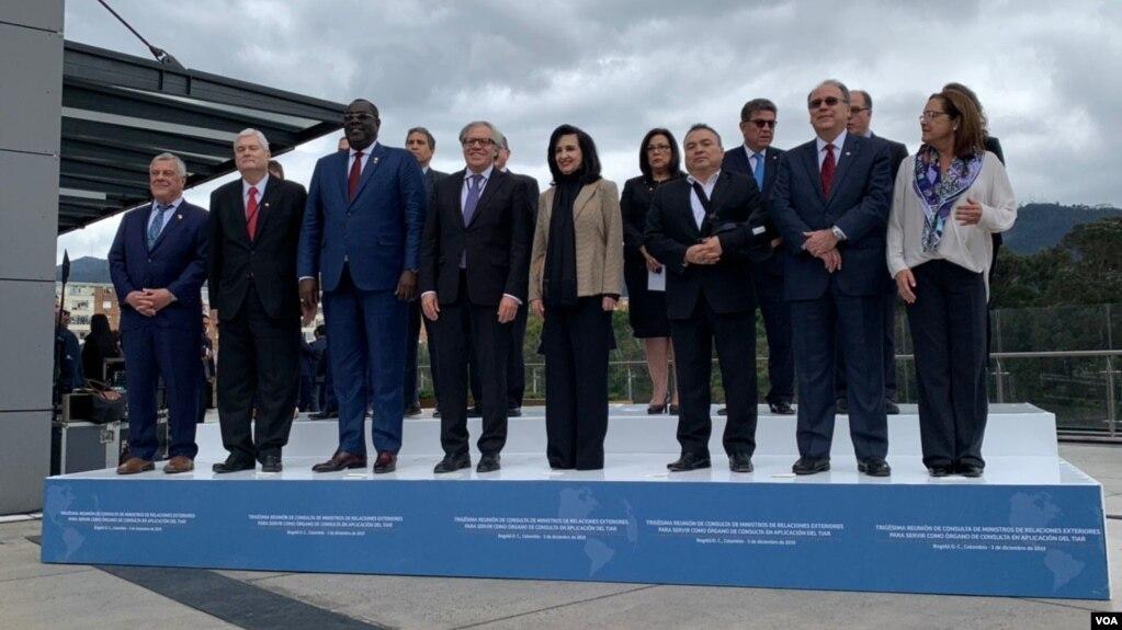 Trigésima Reunión de Consulta de Ministros de Relaciones Exteriores sobre la aplicación del Tratado Interamericano de Asistencia Recíproca (TIAR). Foto: Karen Sánchez / VOA.