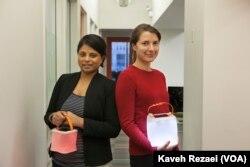 LuminAID co-founders Anna Stork and Andrea Sreshta