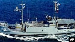 1968년 북한에 나포된 미 해군 첩보함 푸에블로 호 (자료사진)