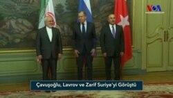 Çavuşoğlu, Lavrov ve Zarif Suriye'yi Görüştü