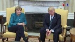 Trump ve Merkel İlk Kez Biraraya Geldi