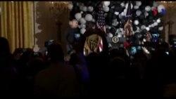 Ông Obama cùng vợ nhảy Thriller