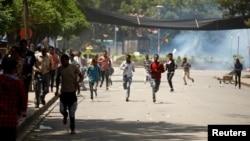 Des émeutes entre manifestants et forces de l'ordre dans la région Oromo, Ethiopie, 2 octobre 2016.