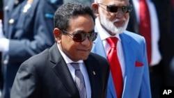 FILE - Maldivian President Abdulla Yameen.
