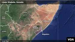 The bombing that claimed two Somalia generals was located in the Lower Shabelle region.