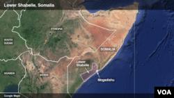 Ikarata y'Intara ya Lower Shabelle, muri Somalia