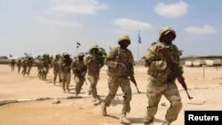 Abasirikare ba Somaliya mu myimenyerezo ya gisirikare