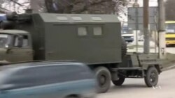 Military Convoy Moves Through Crimea