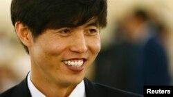 북한 정치범 수용소 출신 탈북자 신동혁 씨가 지난 3월 스위스 제네바 유엔 인권이사회에서 열린 북한 인권 청문회에 참석했다. (자료사진)
