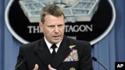 FILE - US Navy Admiral William Gortney