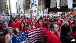 芝加哥的公立學校教師9月10日發動了25年來首次的罷工。