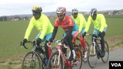 Eritrean Cyclists arrive in Geneve