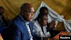 Felix Tshisekedi, candidat favori à la succession de son père à la tête de l'Union pour la démocratie et le progrès social (UDPS), à Kinshasa, RDC, 12 octobre 2017.