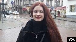 Катерина Кистол - волонтер «Союза стрелков Литвы»