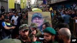 Pogrebna procesija za Mustafu Badedrina juče u Bejrutu
