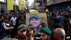 تشییع جنازه مصطفی بدرالدین در جنوب بیروت