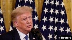Président Donald Trump na Washington, 22 juillet 2020.