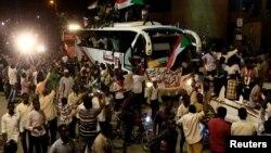 Masu zanga-zanga a birnin Khartoum