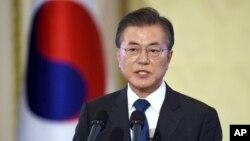 문재인 한국 대통령.