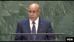 Le président de la Mauritanie, Mohamed Ould Ghazouani, le 25 septembre 2019.