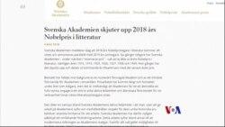 2018-05-04 美國之音視頻新聞: 諾貝爾文學獎因為性醜聞推遲一年頒發