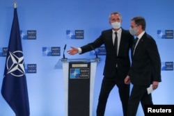 ABD Dışişleri Bakanı Antony Blinken ve NATO Genel Sekreteri Jens Stoltenberg